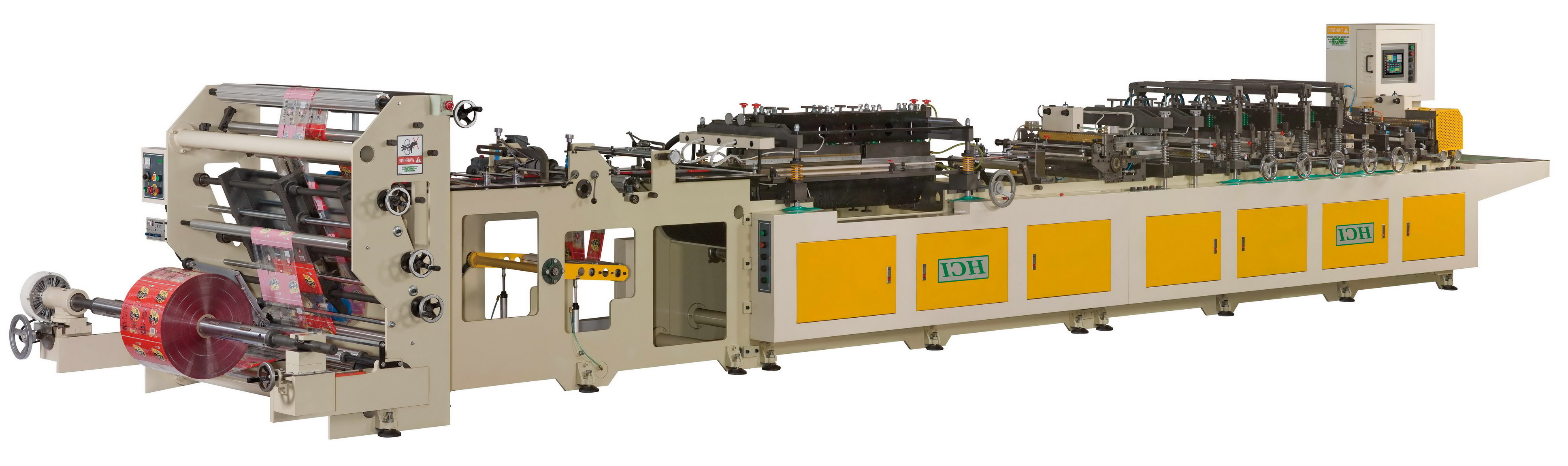 Bag Making Machine For Center Seal Bag / Gusset Bag / Four Side Seal Bag